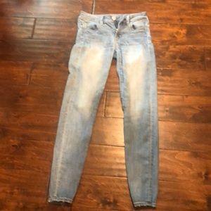 AE light blue jeans